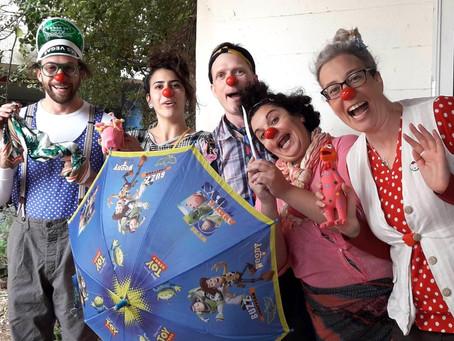 Being present: Clowns in a high school