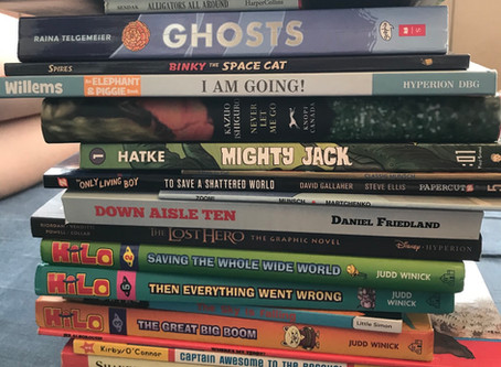 We wrote a story with book titles