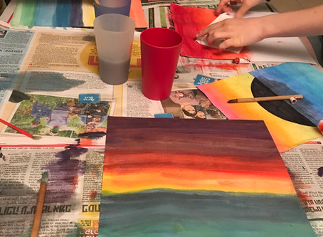 An art class with my 12-year old daughter