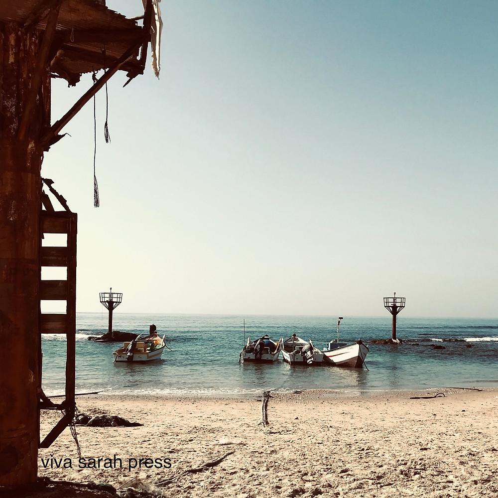 Fishing boats at Jisr az-Zarka, Jan. 2019