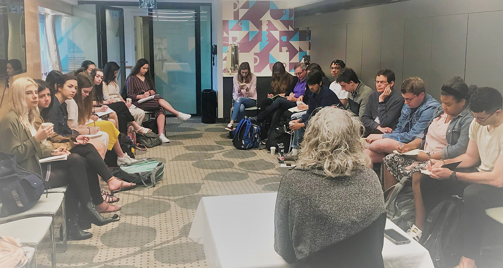 Speaking to Medill School of Journalism students. March 2019.