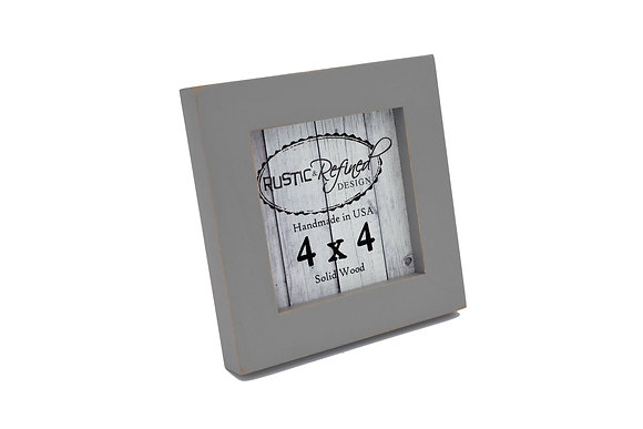 "4x4 1"" Gallery Picture Frame - Grey"