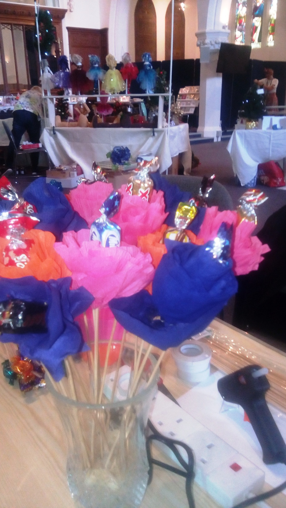Chocolate flowers at Made In Molesey Craft Fayre