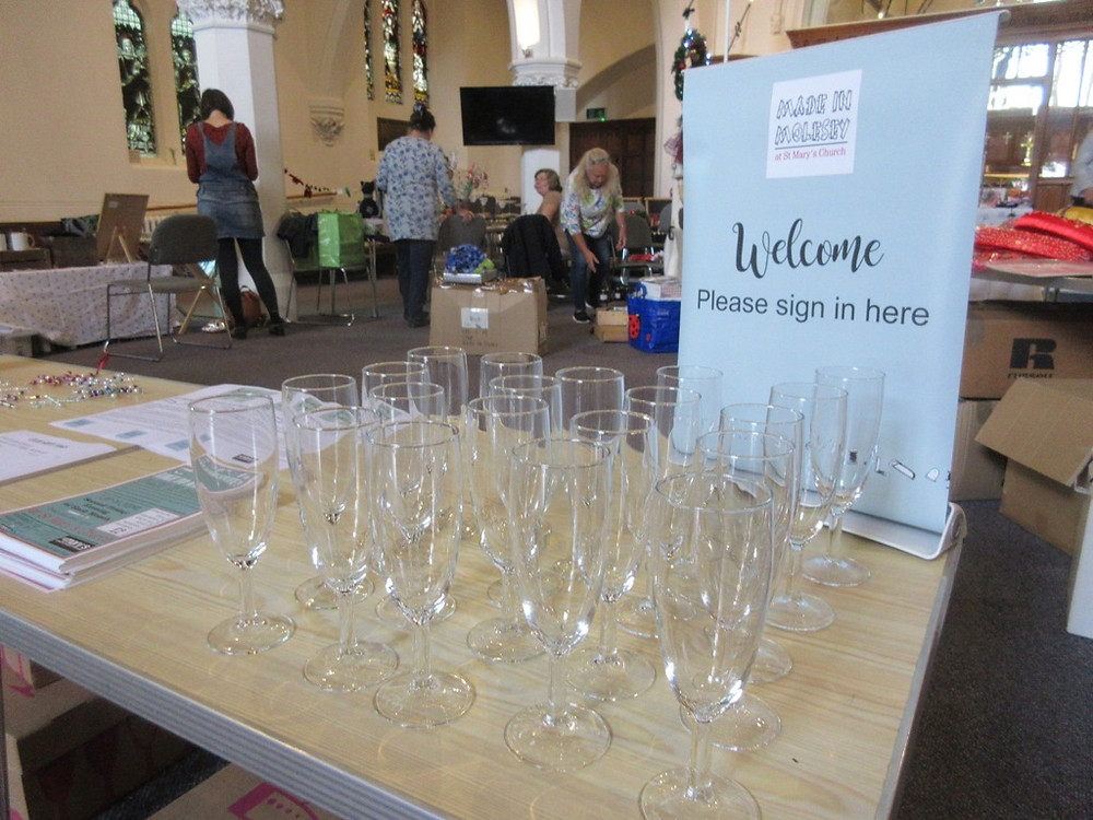 Free prosecco at the local church craft event