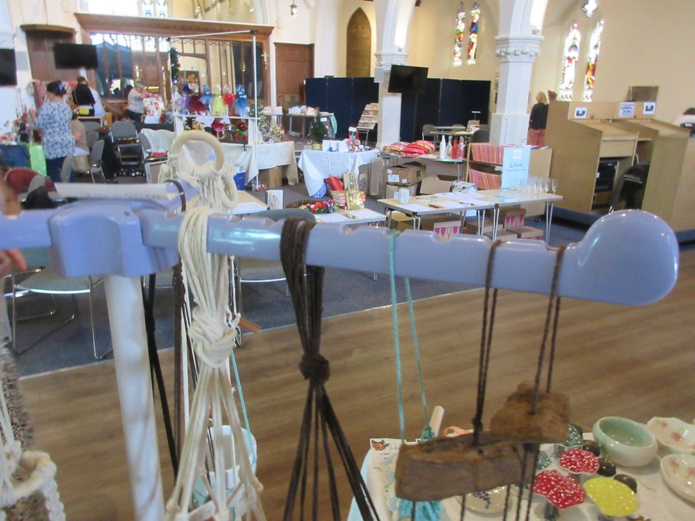Craftaway stalls at St Mary's Church Love Molesey event October 2019