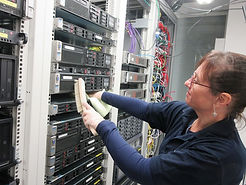 techclean team in action cleaning a server room
