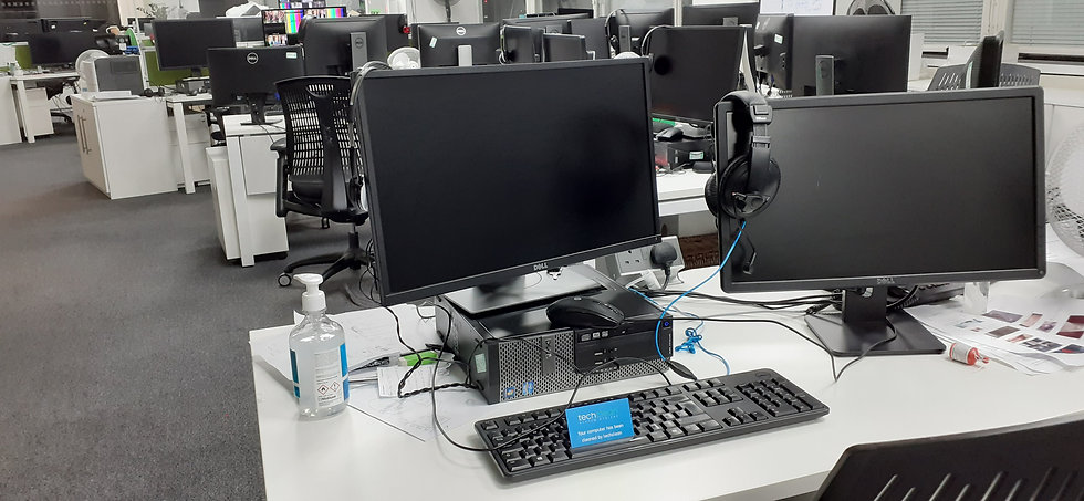 Office computers cleaned by Techclean London SW