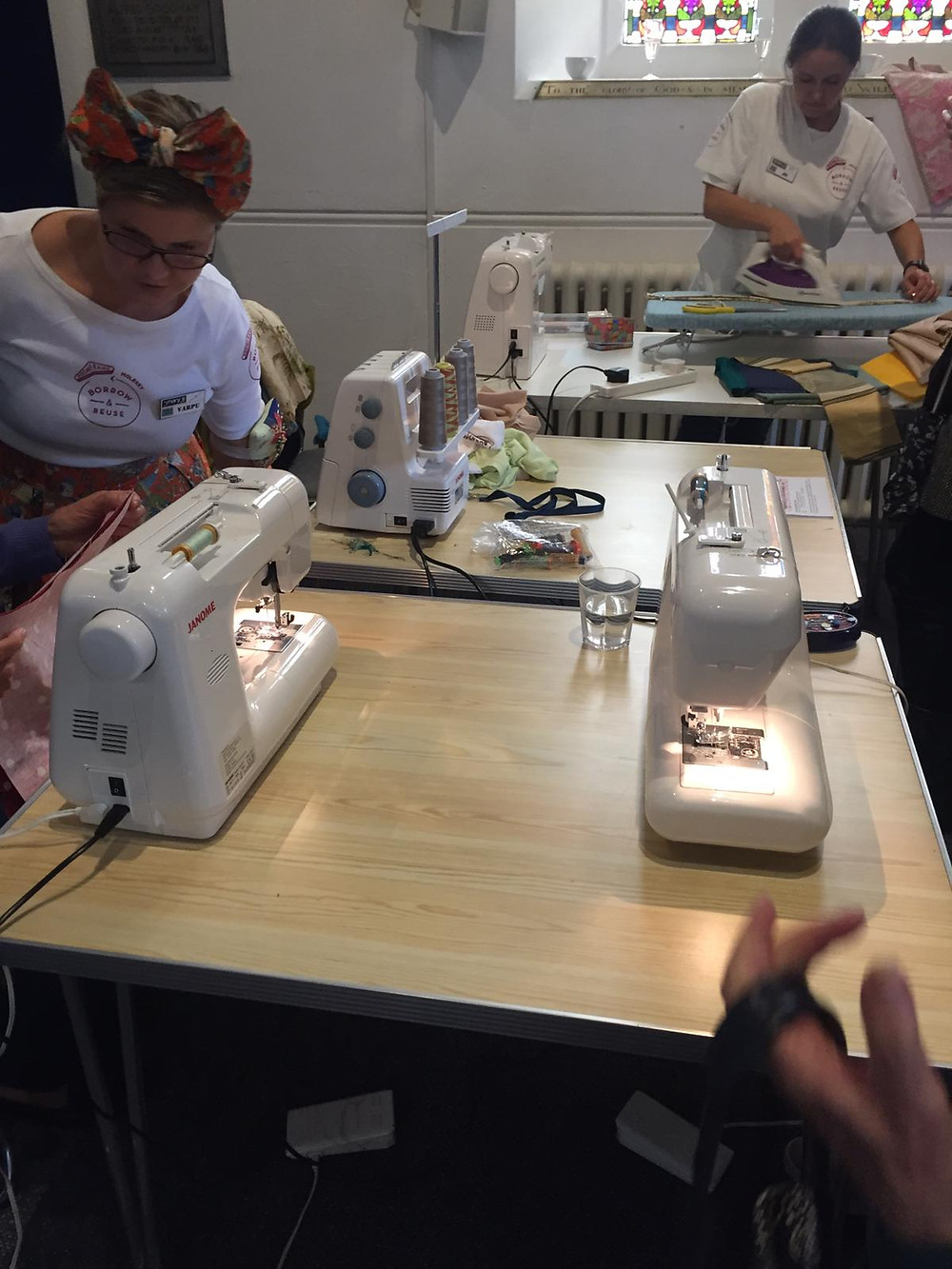 Boomerang bags Molesey making bags for Magical Molesey event