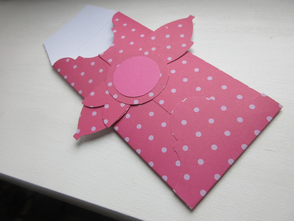 Example of an envelope at the Made In Molesey Christian craft club