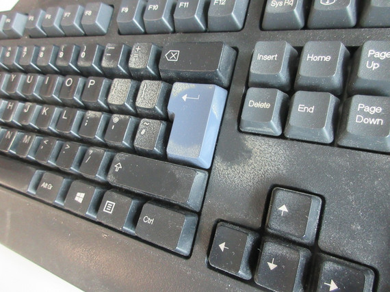 Dirty keyboard needs office computer cleaning