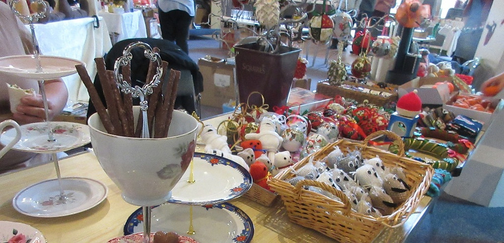 Stalls at the Craftaway at St Mary's Church East Molesey in October 2019