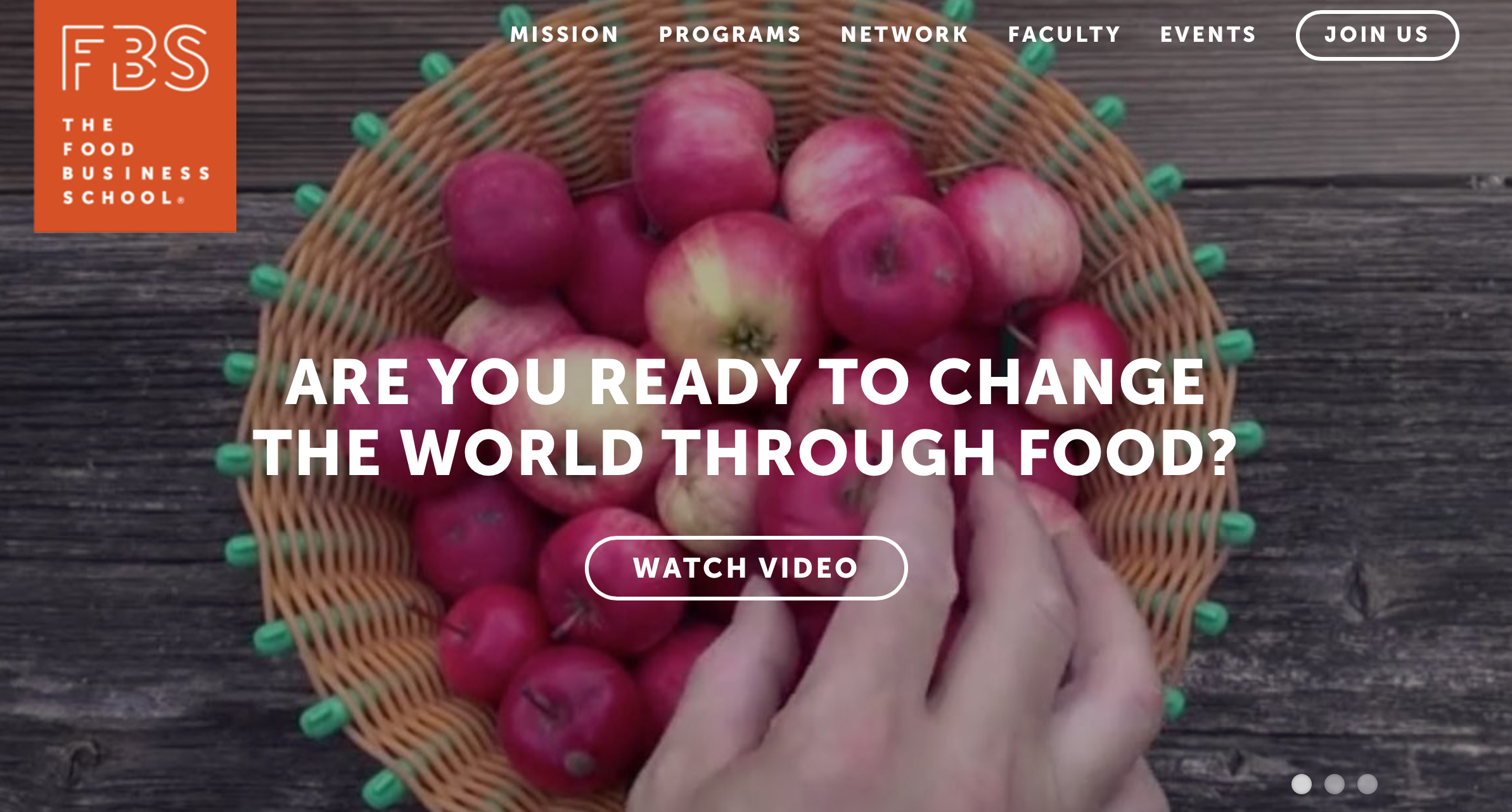 Food Business School Website