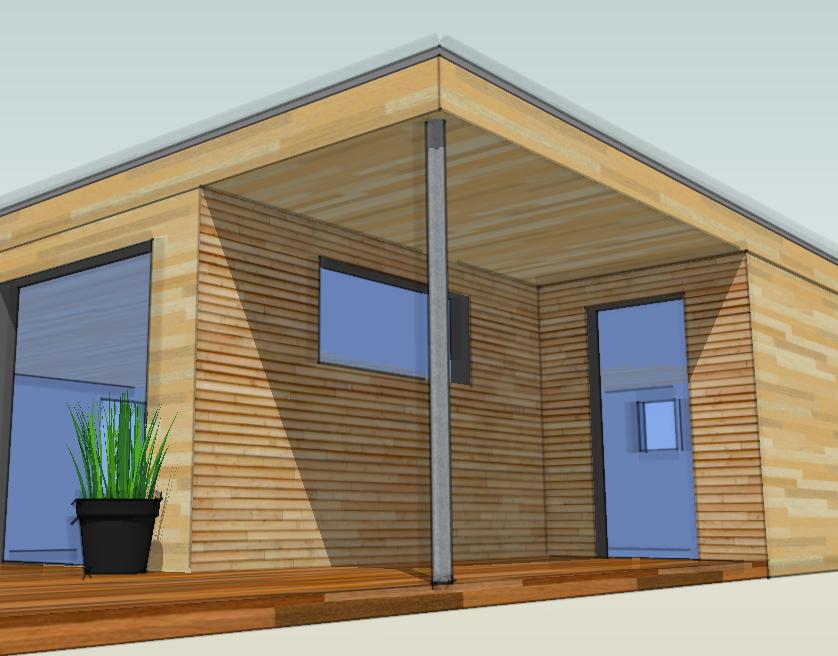 Agrandissement en bois de maison