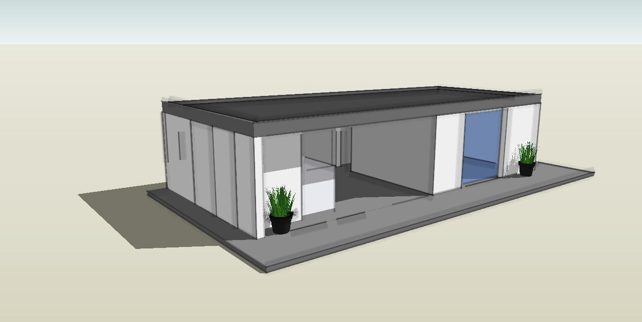 extension bois toit plat Arcachon