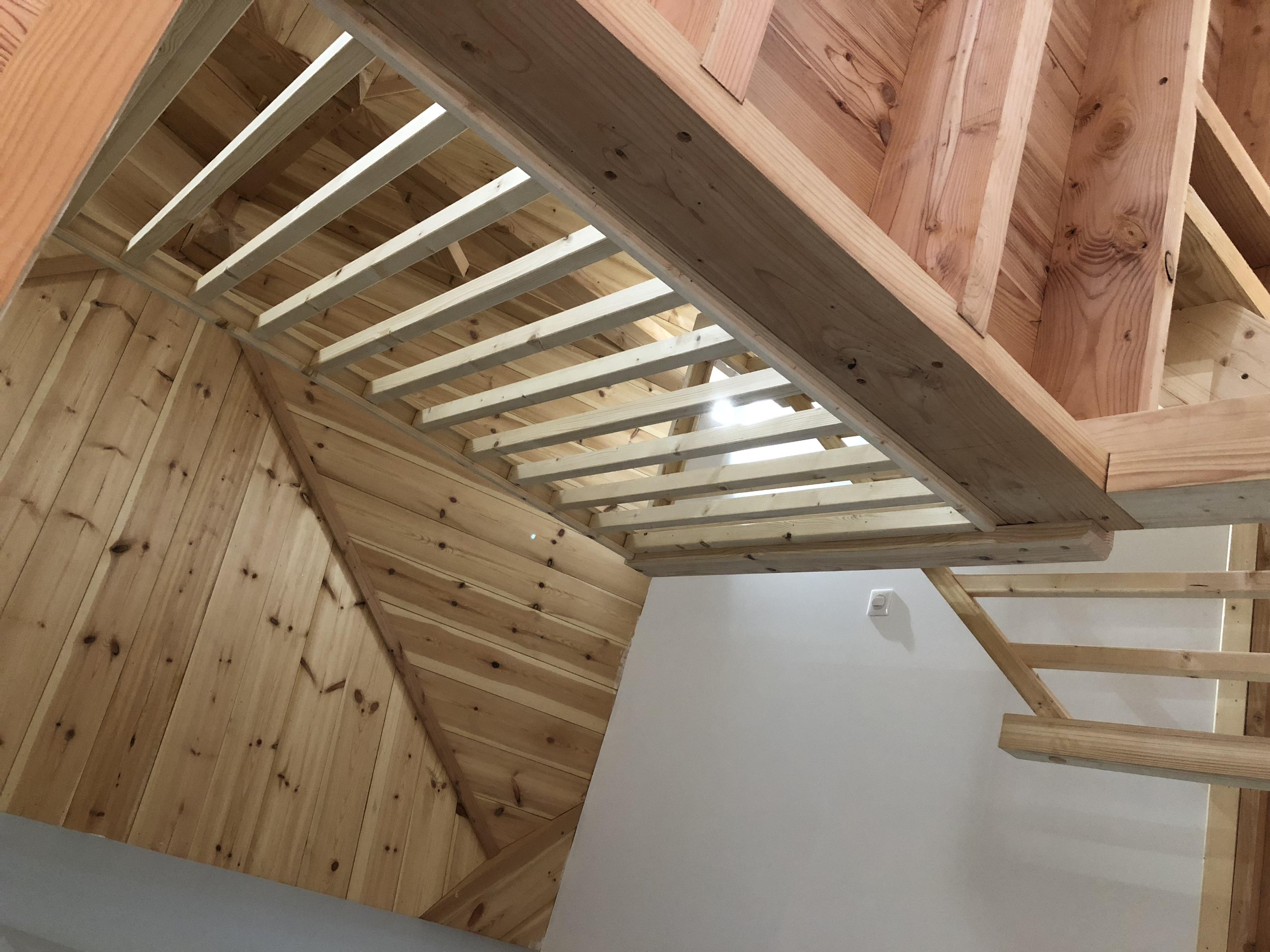 Chevêtre escalier maison