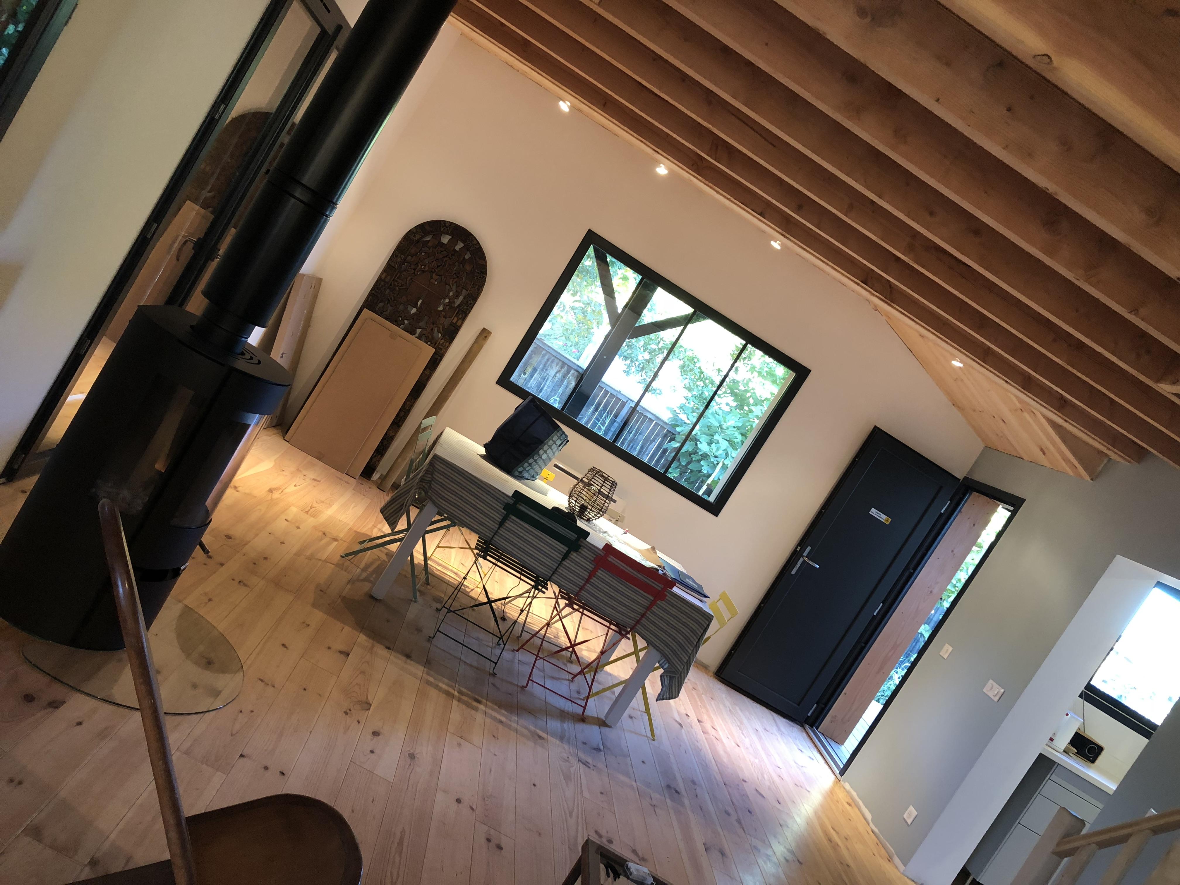 Aménagement intérieur maison bois