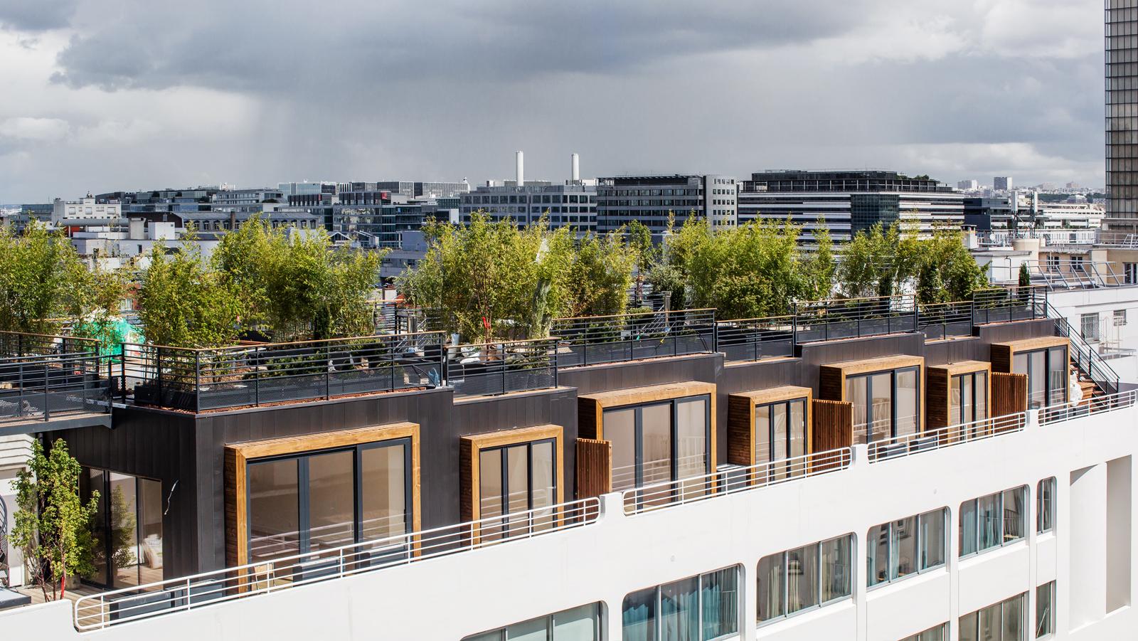 Maison Ossature Bois Bordeaux surélévation, des maisons sur les toits de paris