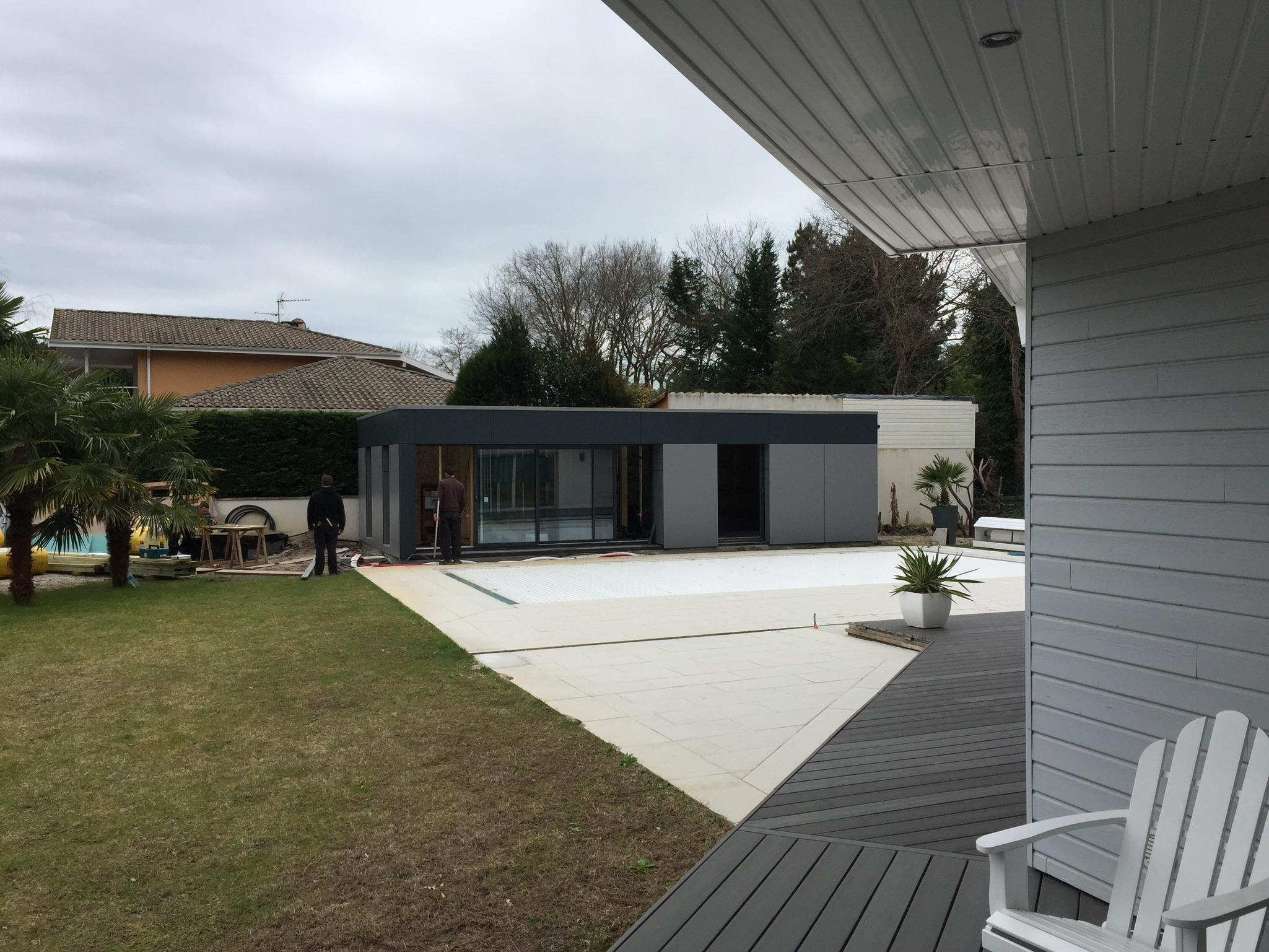 Extension maison bois Arcachon