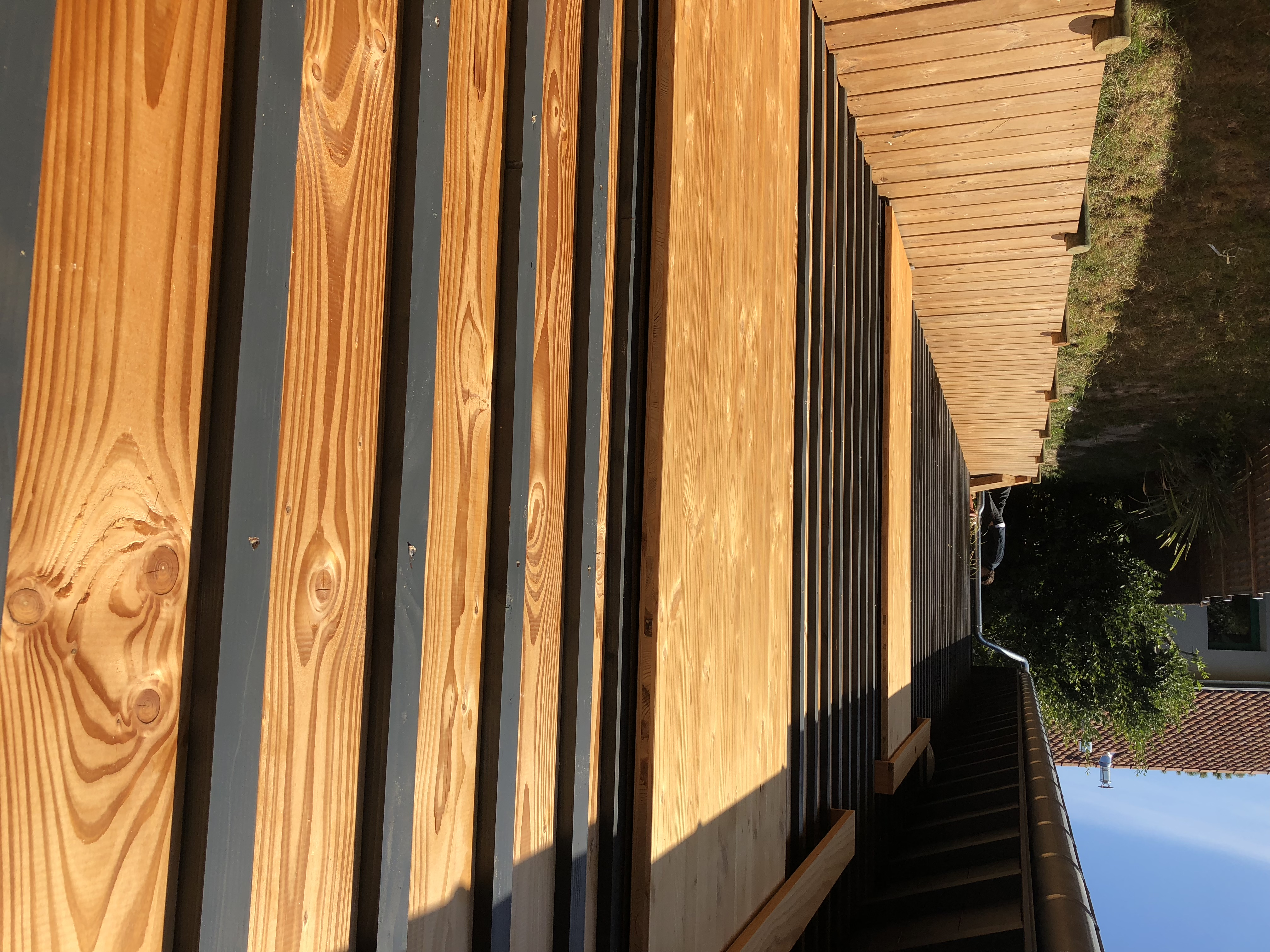 Bardage d'une maison ossature bois