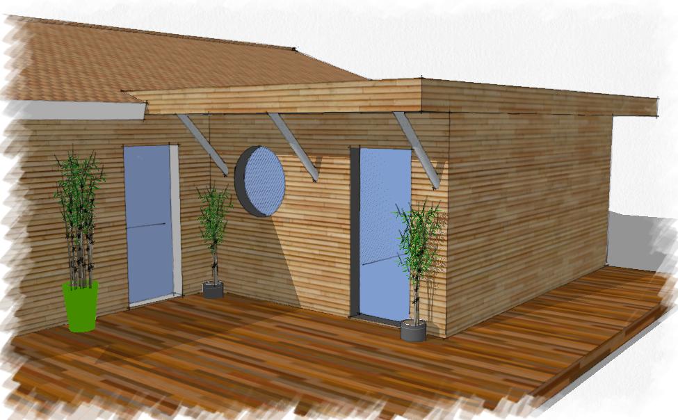 Agrandissement bois maison Cestas