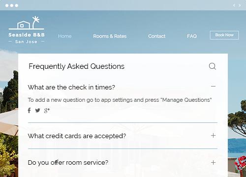 Wix FAQ APP