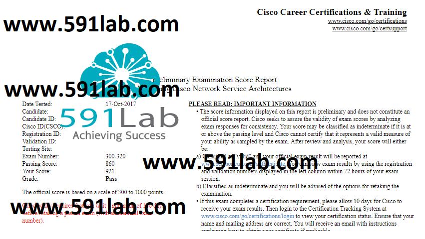 "CCDP Exam# 300-320 - ""Pass"" | 591lab team | CCIE, HCIE Lab ..."