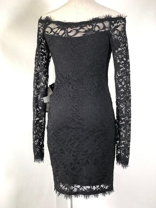 Vestido Lace Negro Midi