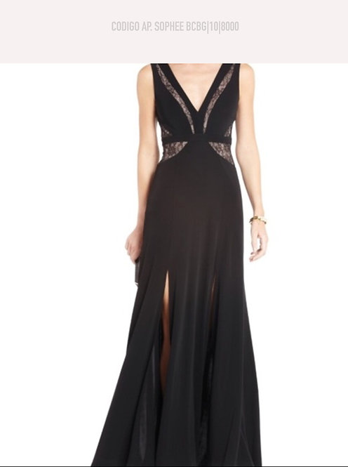 Vestido Negro Largo Sophee BCBG