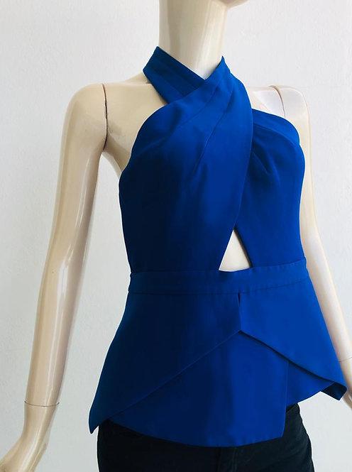 Blusa BCBG|Maxazria Azul eléctrico