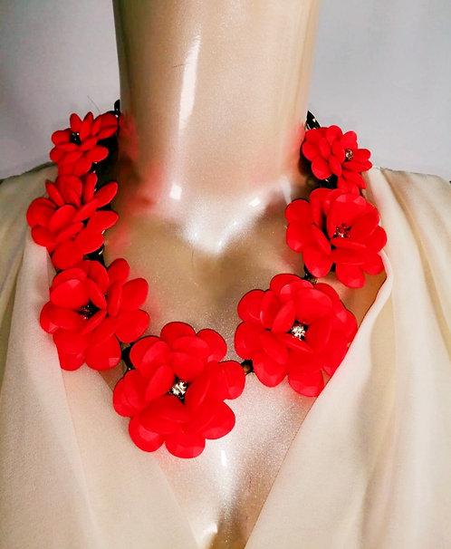 Collar de flores Artesanal