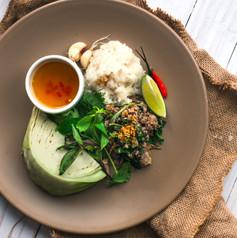 Thai Larb Sticky Rice.JPG