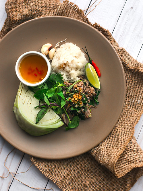 THAI LARB | NAM PRIK | STICKY RICE LETTUCE CUPS (07/12 4pm EST)