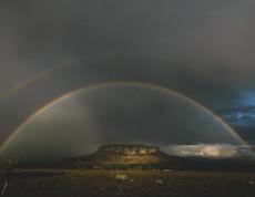 Double rainbow over Black Mesa