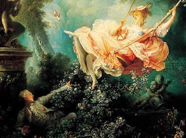 """""""O balanço"""" - Fragonard, 1767"""