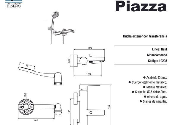 Grifería Ducha Monocomando Exterior Piazza Next 10208