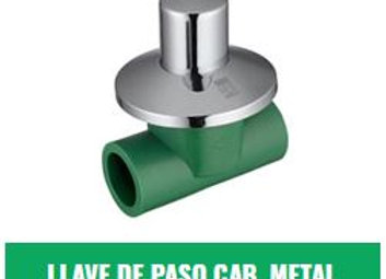 Llave de Paso Campana Metálica IPS Fusion (20mm a 32mm)