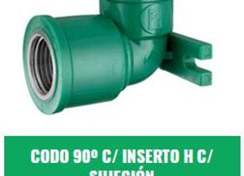 """Codo 90° Rosca Hembra C/Sujeción 20mm x 1/2"""" IPS Fusión"""