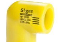 Codo 90° Fusión Sigas 20mm (25 a 63mm)