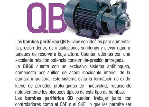 Bomba Periférica 1/2 Hp Elevadora Agua 28 Mts Pluvius QB60