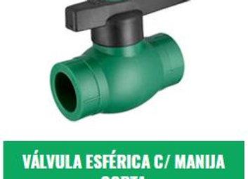 Válvula Esférica Manija Corta IPS Fusión (20mm a 32mm)
