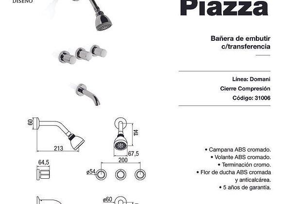 Grifería Ducha Bañera C/transferencia Piazza Domani 31006