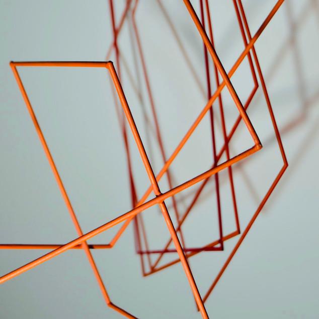 Coloured Shadows, 2020   Móvil Acrílico   55 x 45 cm.
