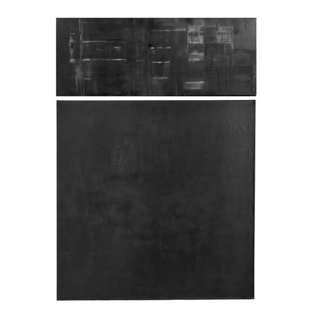 Paisajes efímeros I, 2015 | Díptico en tiza pastel, oleo en barra y grafito | 150 x 100 cm.