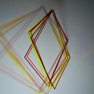 Coloured Shadows, 2020 | Móvil Acrílico | 55 x 45 x 50 cm.