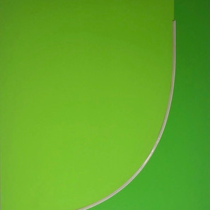 Discromatopsias (verde), 2020 | Pintura acrílica sobre MDF, corte láser y manguera flexible LED 220 v | 100 x 80 x 4 cm.