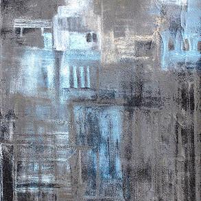Paisajes Efímeros II, 2017 | Grafito, óleo en barra y tiza pastel sobre Canvas | 120 x 40 cm.