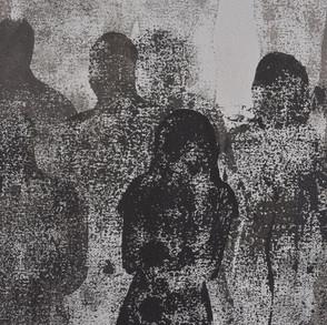 Nostalgia de la mirada II, 2015   Óleo sobre canvas   150 x 150 cm.