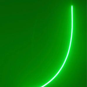 Discromatopsias (verde) | 2020 | Pintura acrílica sobre MDF, corte láser y mangera flexible LED 220 v | 100 x 80 x 4 cm.