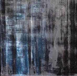 Paisajes Efímeros II, 2017 | Grafito, óleo en barra y tiza sobre Canvas | 120 x 40 cm.
