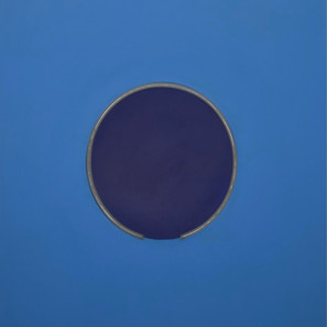 Discromatopsia (azul)| 2020 Pintura acrílica sobre MDF, corte láser y manguera flexible LED 220 v | 100 x 80 x 4 cm.